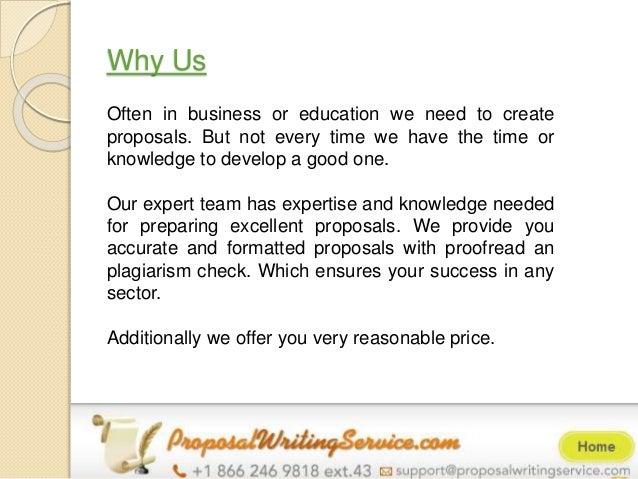 Proposal writing service