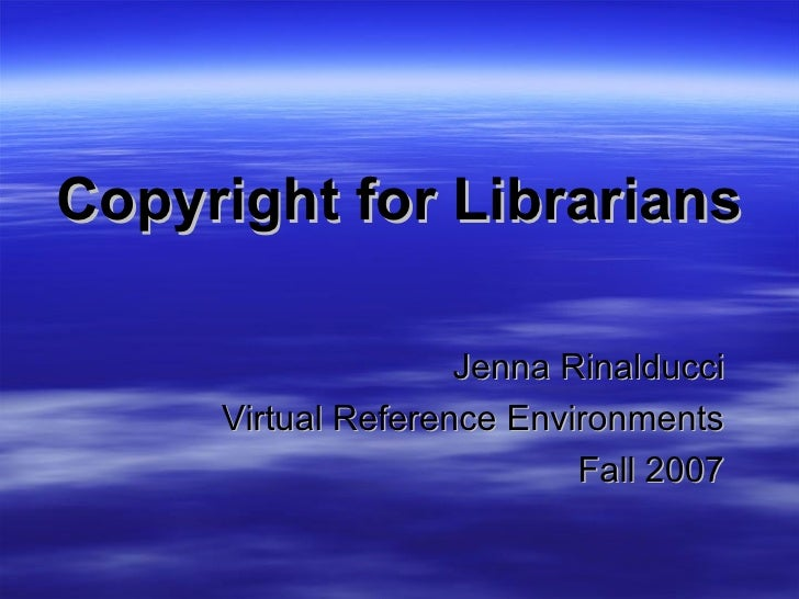 Proposed Project on Copyright for Librarians