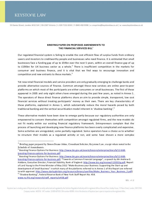 Proposed amendments to the financial services bill sdj 21 06 12