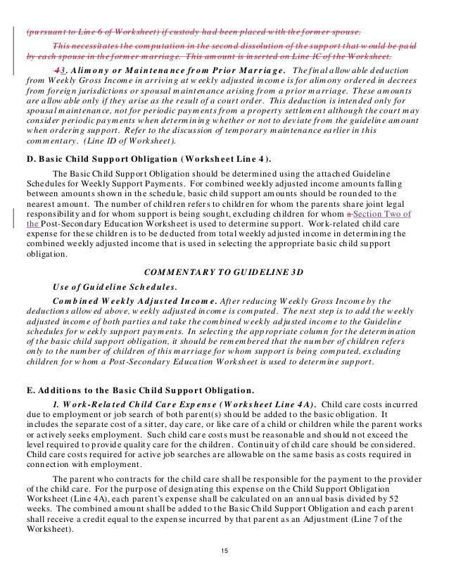 Worksheets Indiana Child Support Worksheet indianas proposed news child support rules 15