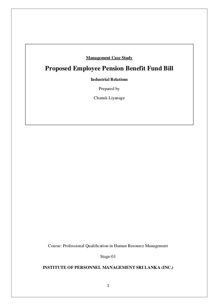 Proposed private sector employee pension benefit fund bill