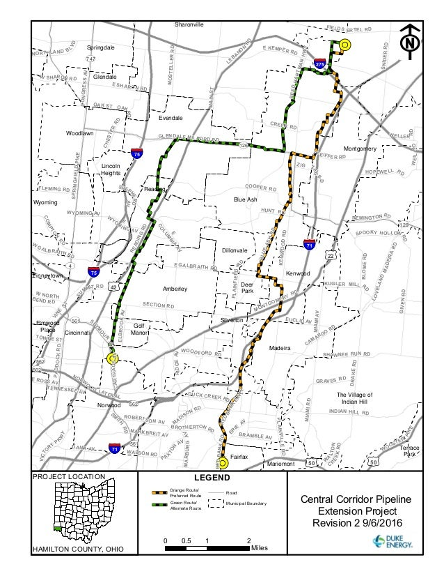 duke energy of ohio proposed routes for natgas pipeline in hamilton c u2026