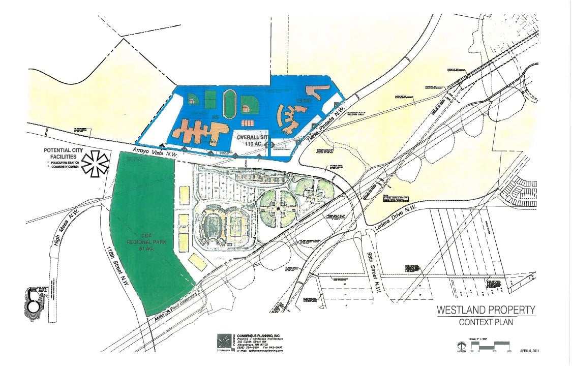 APS Westside Sports Complex Conceptual Master Plan April 6, 2011