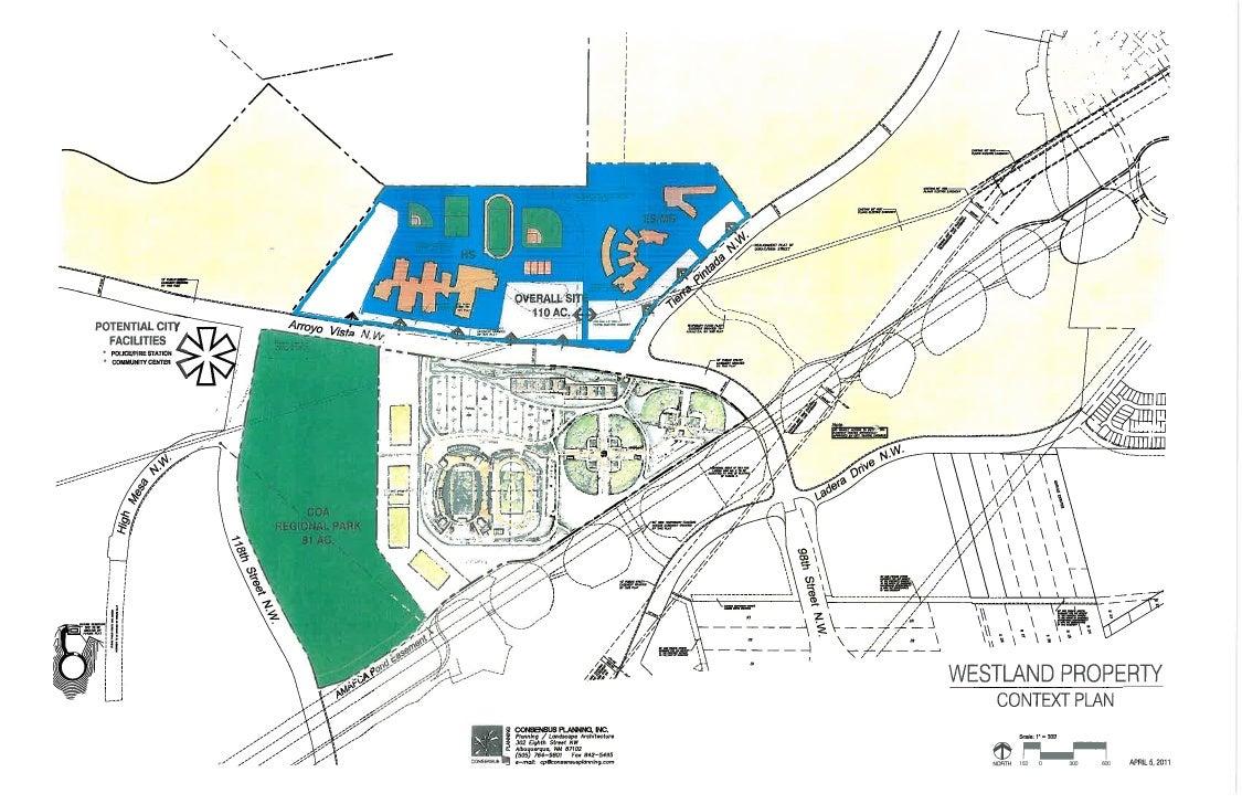 APS Westside Sports Complex Conceptual Master Plan April 6, 2011