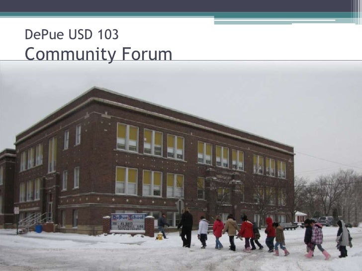 DePue USD 103Community Forum<br />