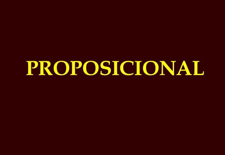 Proposicional