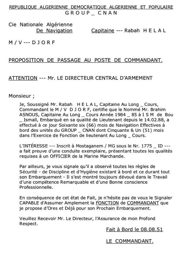 Proposition de passage sd capitaine