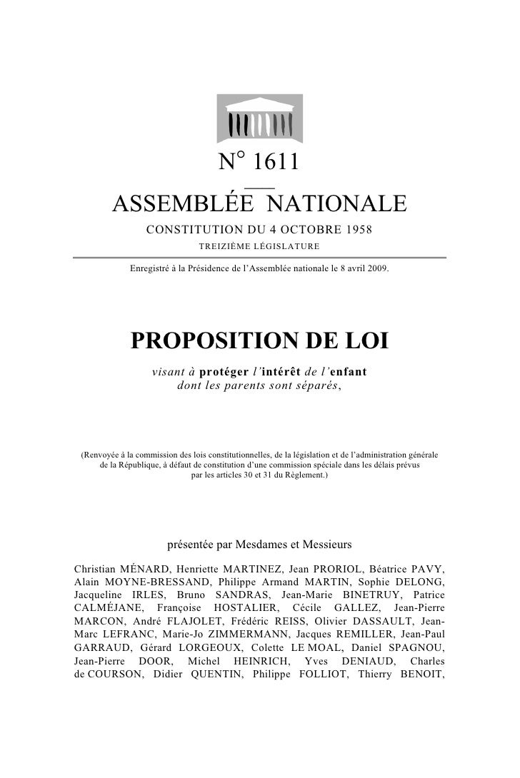 N° 1611                                                 _____           ASSEMBLÉE NATIONALE                    CONSTITUTIO...
