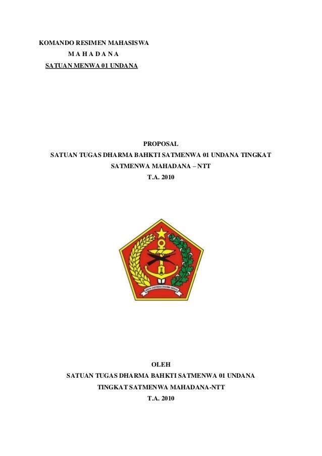 Proposl komando resimen mahasiswa undana