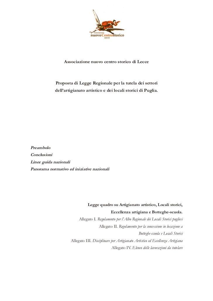 Proposta di legge regionale del 2009