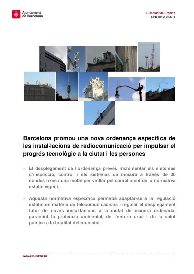 » Dossier de Premsa                                                          13 de febrer de 2013Barcelona promou una nova...