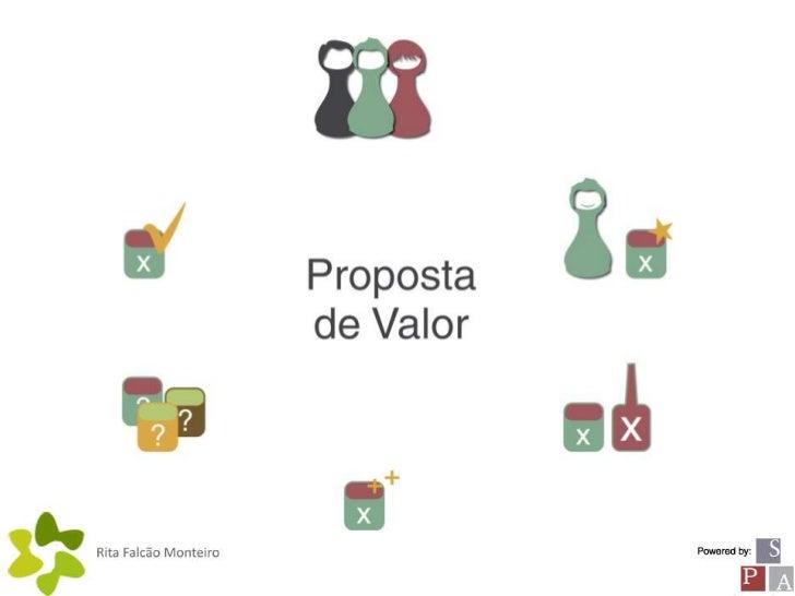 Proposta       de Valor                    agregação de benefícios que a                    actividade quer oferecer      ...