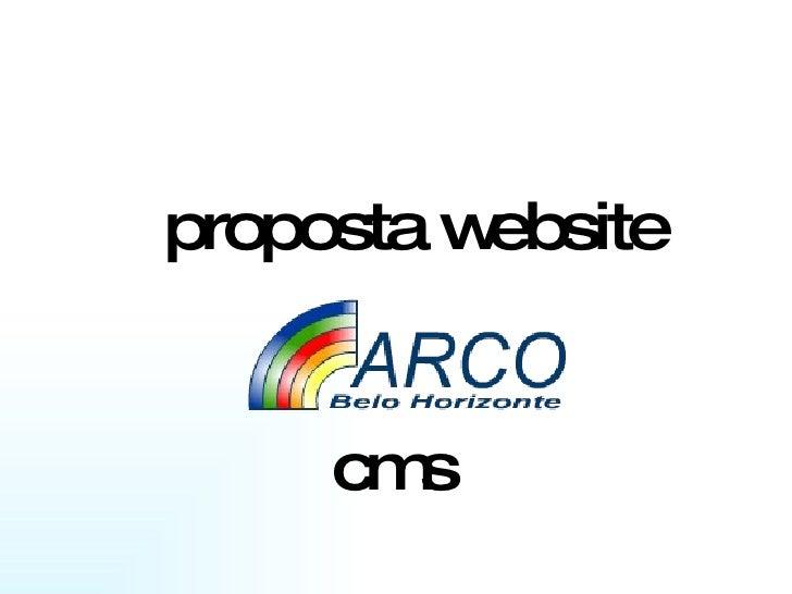 proposta website cms