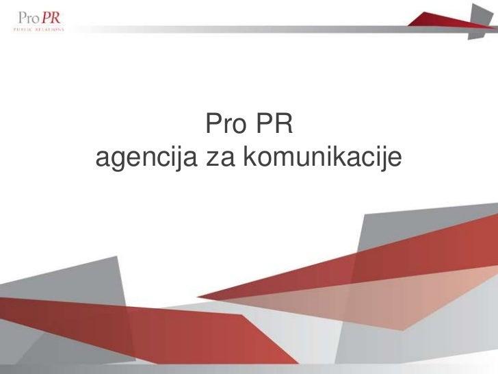 Pro PRagencija za komunikacije
