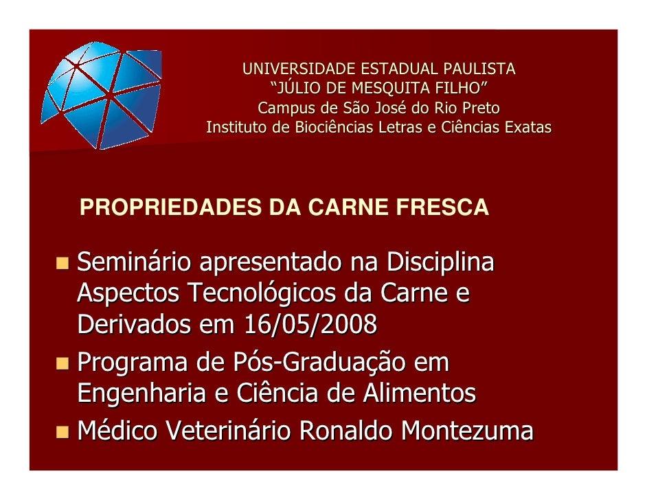 """UNIVERSIDADE ESTADUAL PAULISTA                     """"JÚLIO DE MESQUITA FILHO""""                   Campus de São José do Rio P..."""
