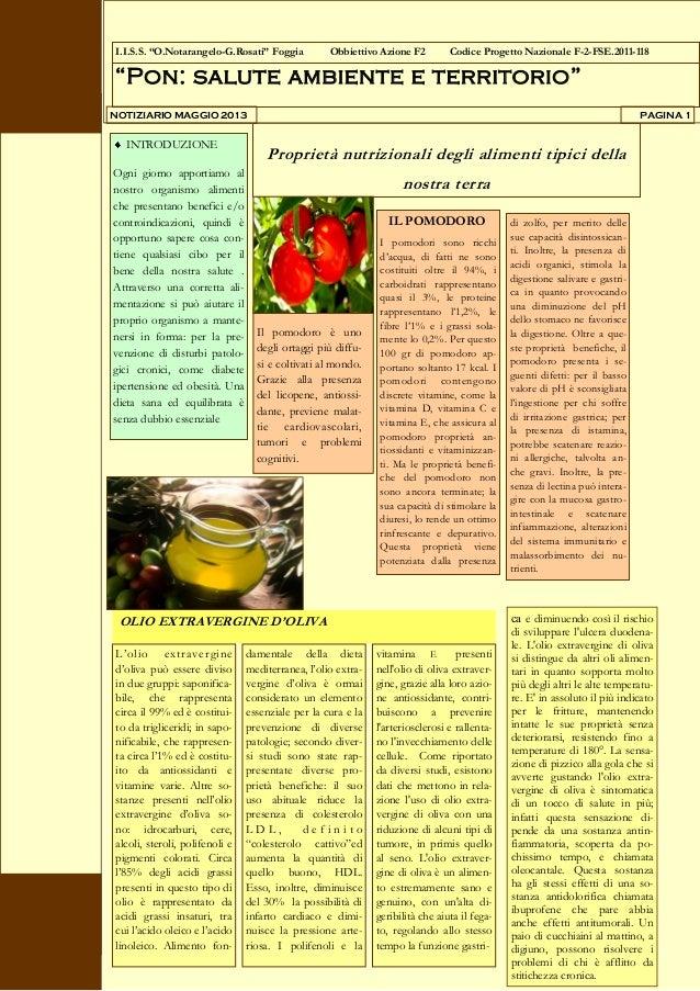 Proprietà nutrizionali dei prodotti tipici