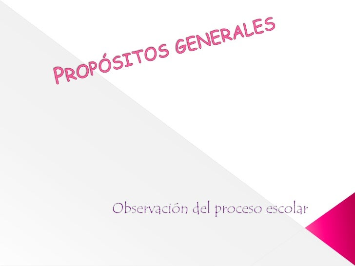 Propósitos generales