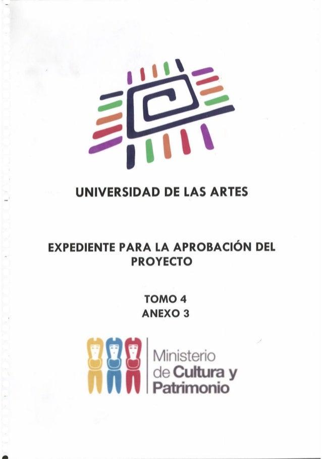 Propuesta4 -  Proyecto de Ley de Creación de la Universidad de las Artes