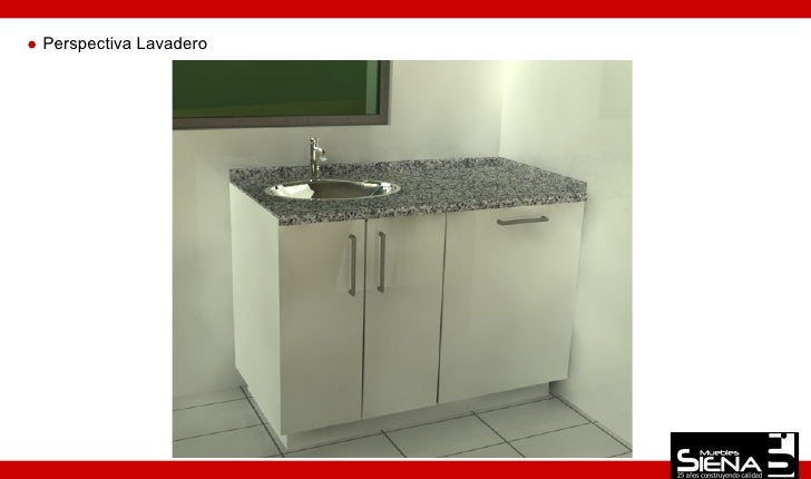 Dise o mueble cocina 13 for Lavadero de cocina con mueble