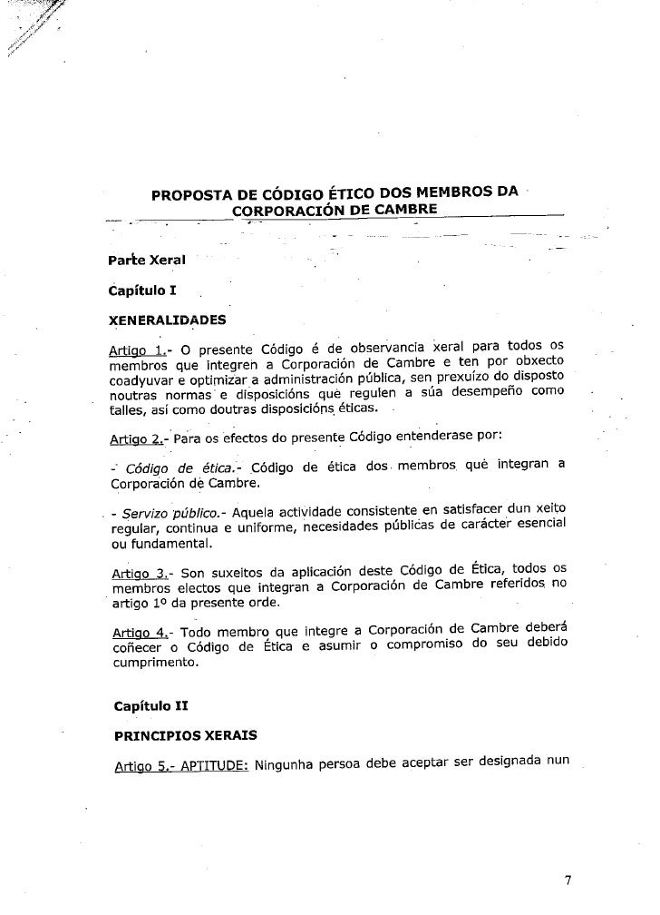 Propuesta Codigo Etico Ayto Cambre