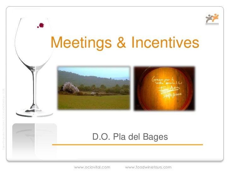Reuniones de Ocio o Negocio en D.O. Pla del Bages