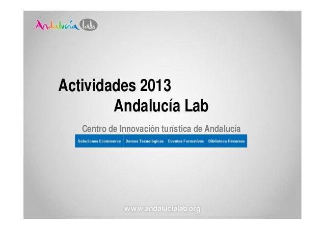 Actividades 2013 en Andalucía Lab