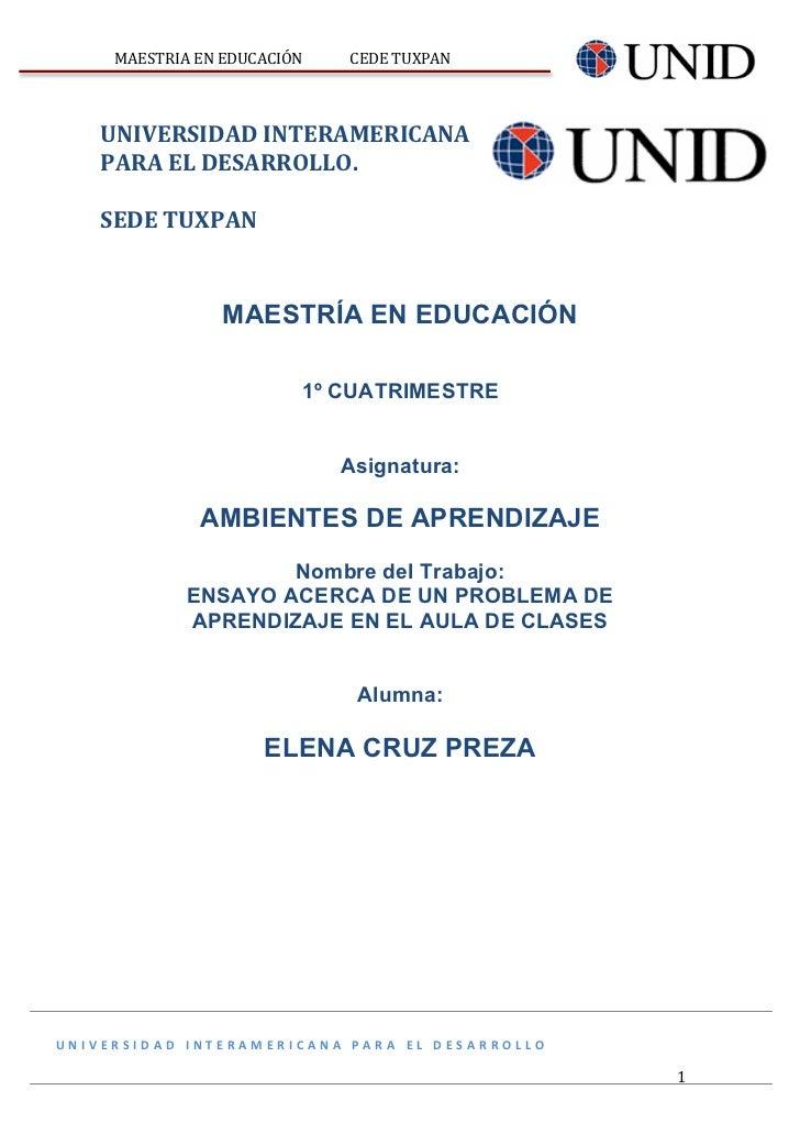 MAESTRIA EN EDUCACIÓN                    CEDE TUXPAN                                                        ...