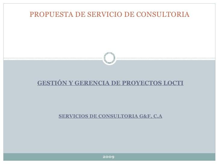 Propuesta Definitiva De Servicio De Consultori