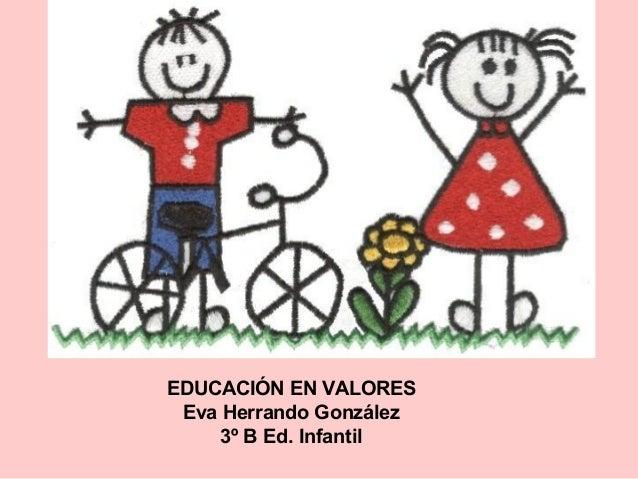EDUCACIÓN EN VALORES Eva Herrando González 3º B Ed. Infantil