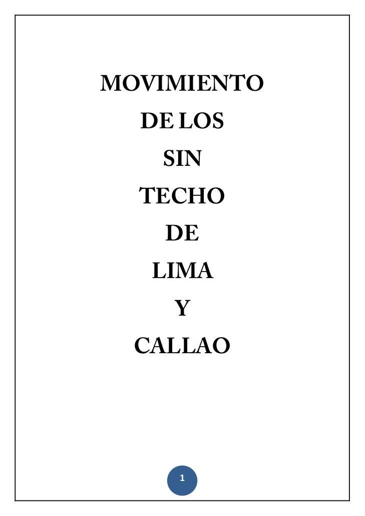 MOVIMIENTO      DE LOS       SIN      TECHO       DE       LIMA        Y      CALLAO        1