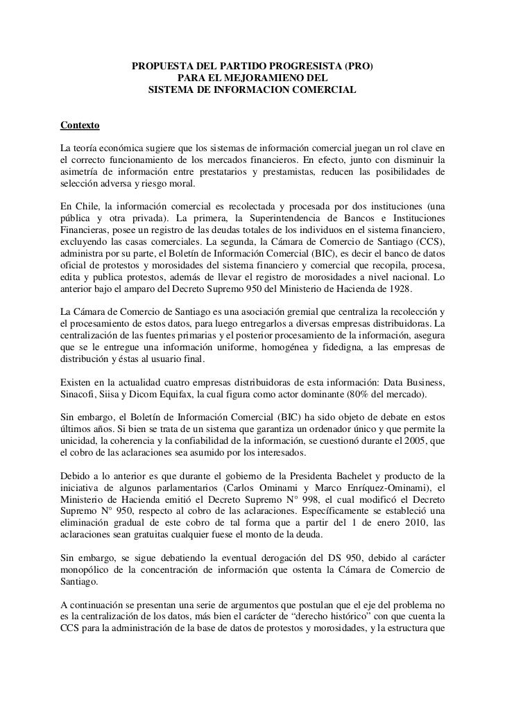 PROPUESTA DEL PARTIDO PROGRESISTA (PRO)                        PARA EL MEJORAMIENO DEL                   SISTEMA DE INFORM...