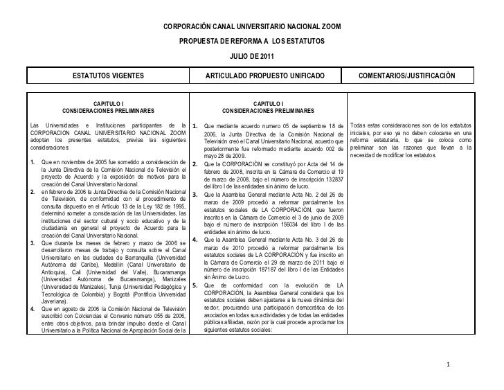CORPORACIÓN CANAL UNIVERSITARIO NACIONAL ZOOM                                                                  PROPUESTA D...