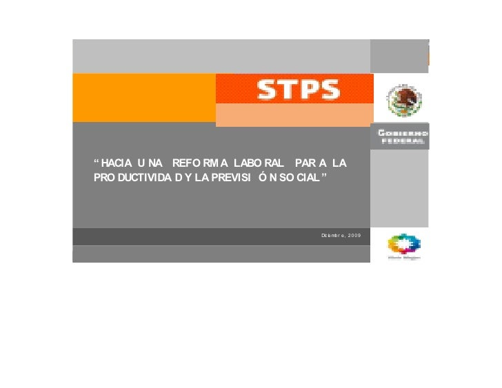 Propuesta de reforma Ley Federal del Trabajo México