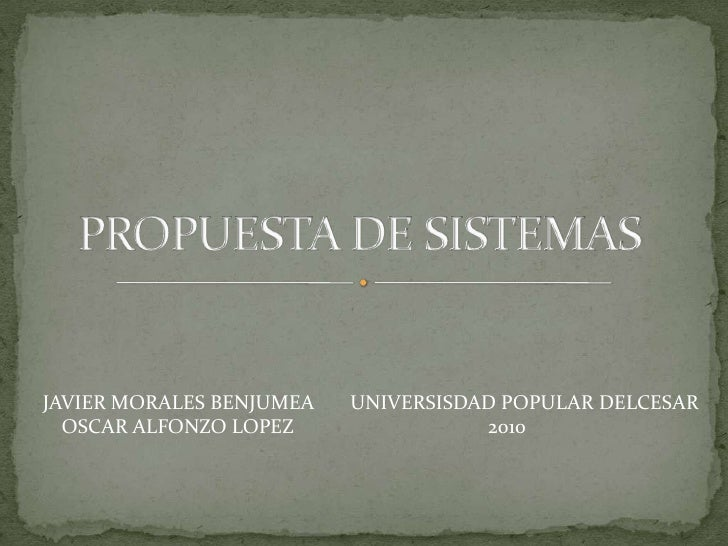 Propuesta De Sistemas