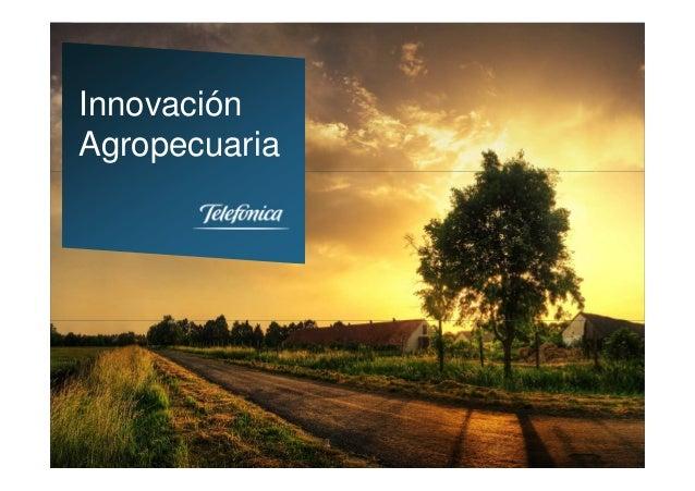 1Estrategia y Nuevos Servicios DigitalesTelefónica EspañaInnovaciónAgropecuaria