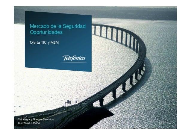 Estrategia y Nuevos ServiciosTelefónica EspañaOferta TIC y M2MMercado de la SeguridadOportunidades