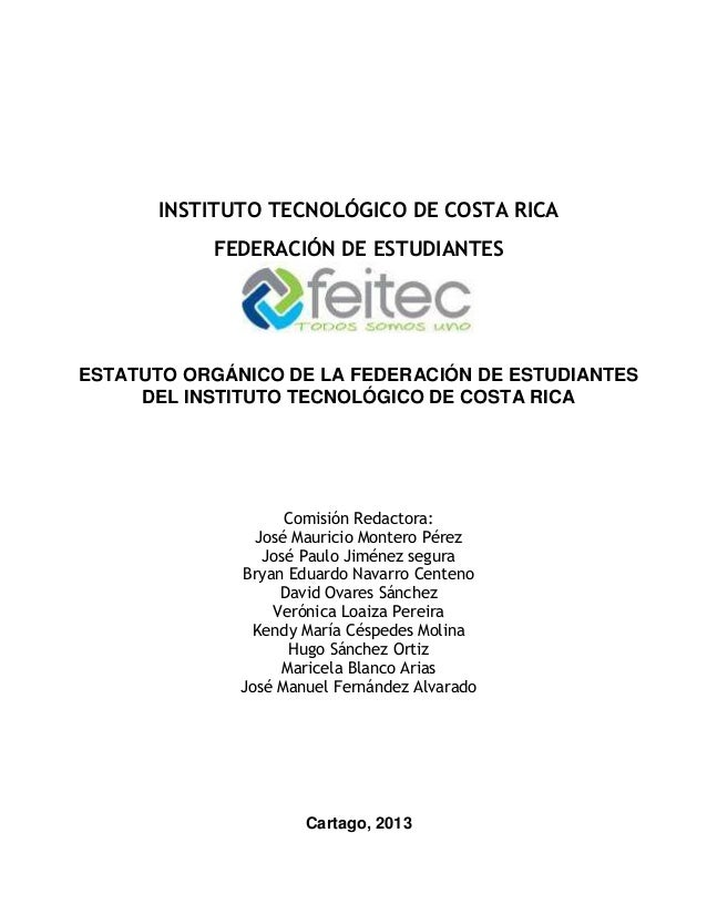Propuesta base Reforma Total Estatuto Orgánico feitec