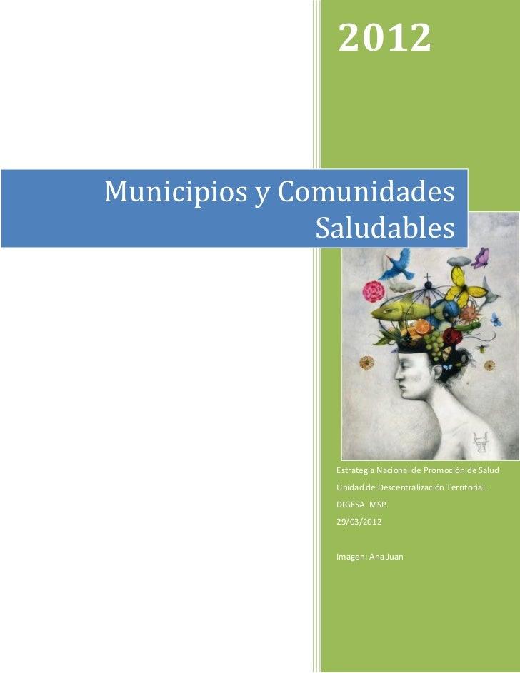 Propuesta guía municipios saludables. 29 marzo 2012