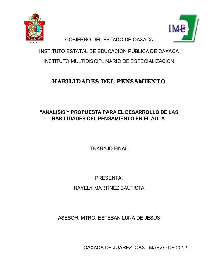 GOBIERNO DEL ESTADO DE OAXACAI. E. E. P.O           INSTITUTO ESTATAL DE EDUCACIÓN PÚBLICA DE OAXACA               INSTITU...