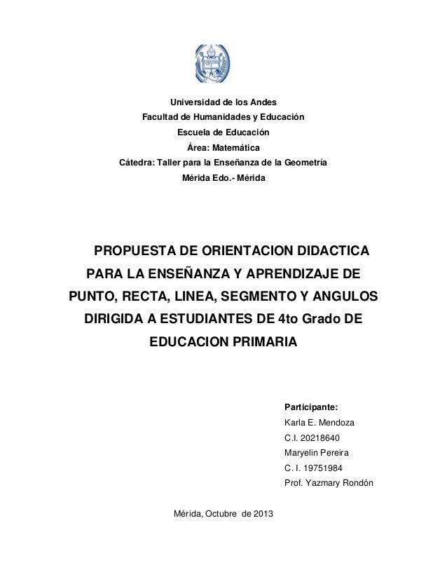 Universidad de los Andes Facultad de Humanidades y Educación Escuela de Educación Área: Matemática Cátedra: Taller para la...