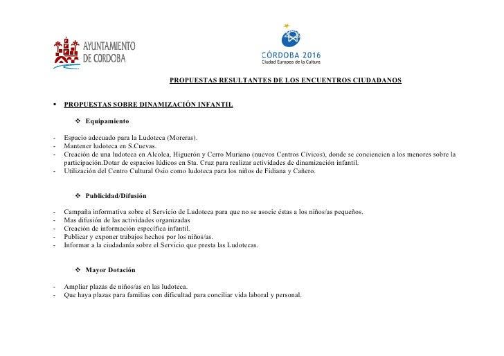 Propuestas Conclusiones Encuentros CiudadaníA Personas Adult