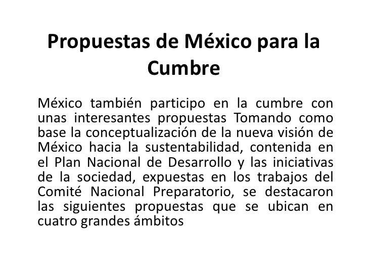 Propuestas de mexico_para_la_cumbre_de_rio