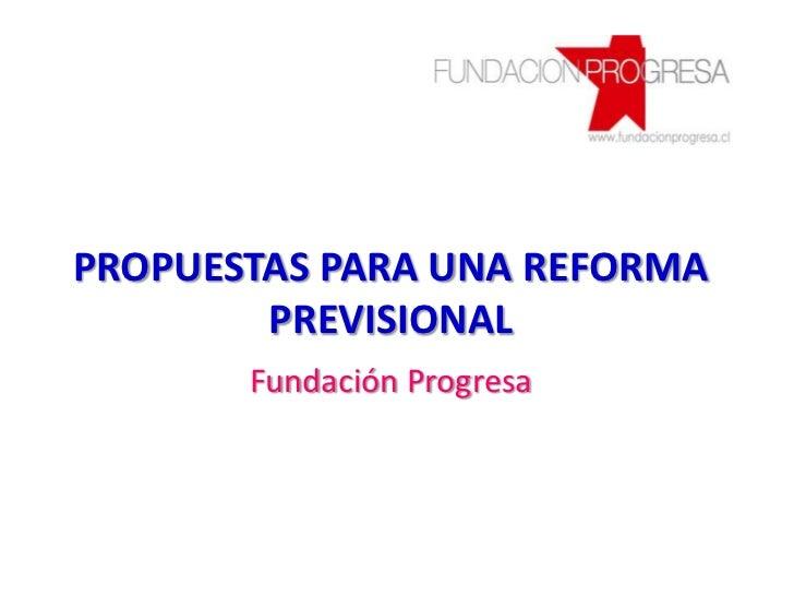 Propuesta sistema previsional