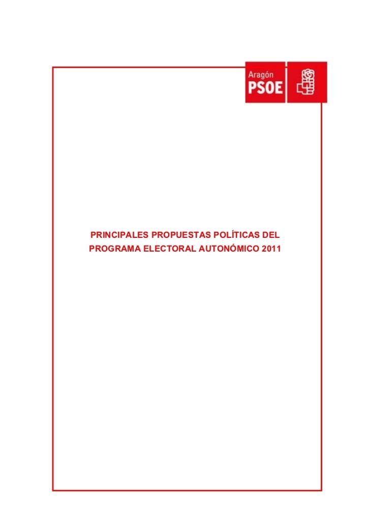Propuestas programa autonómico 2011 aragón