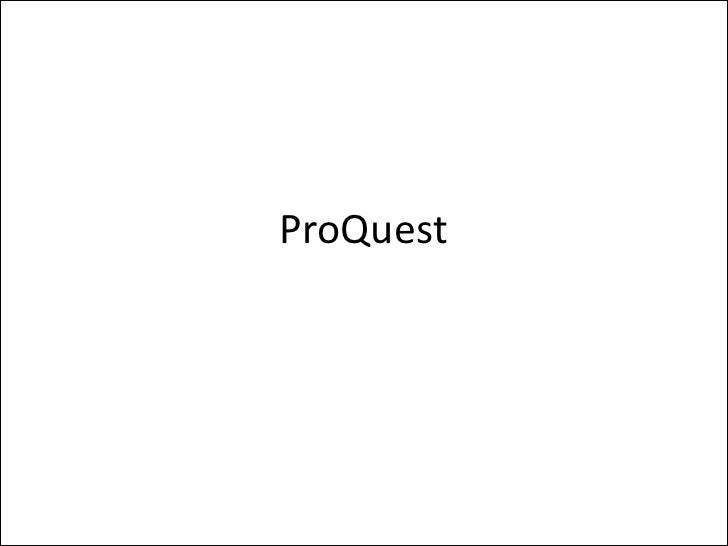 ProQuest Article Database