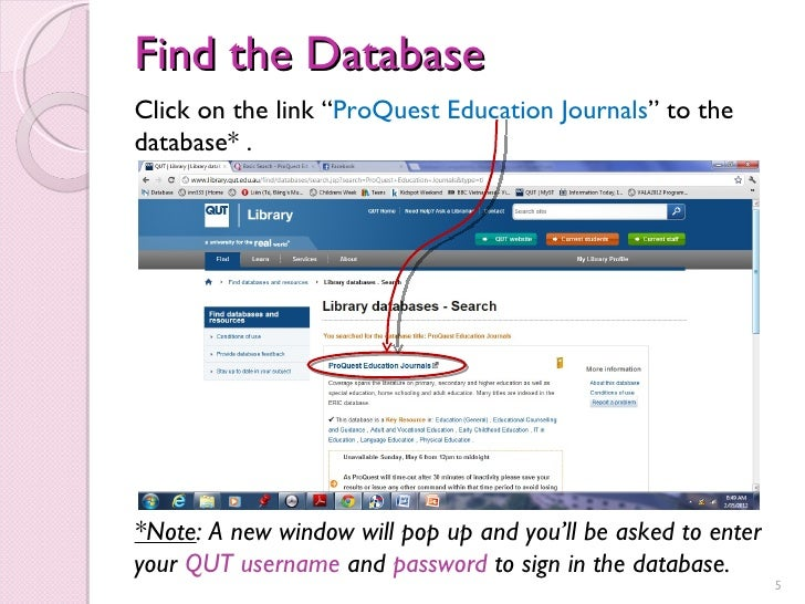 Proquest Dissertations Search