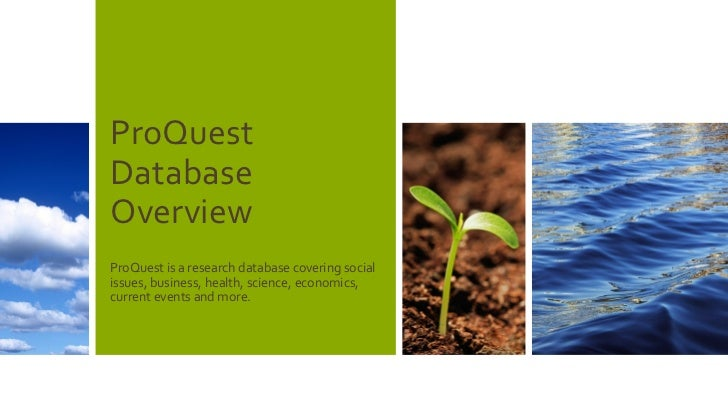 ProQuest's new database platform