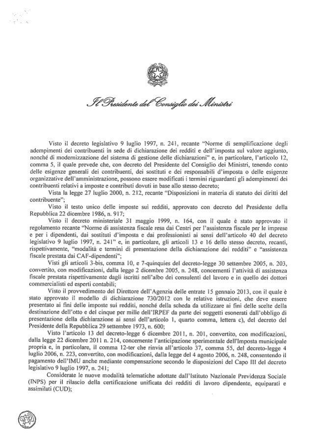 Decreto Proroga 730