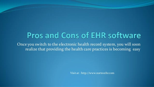 Pros and cons of ehr