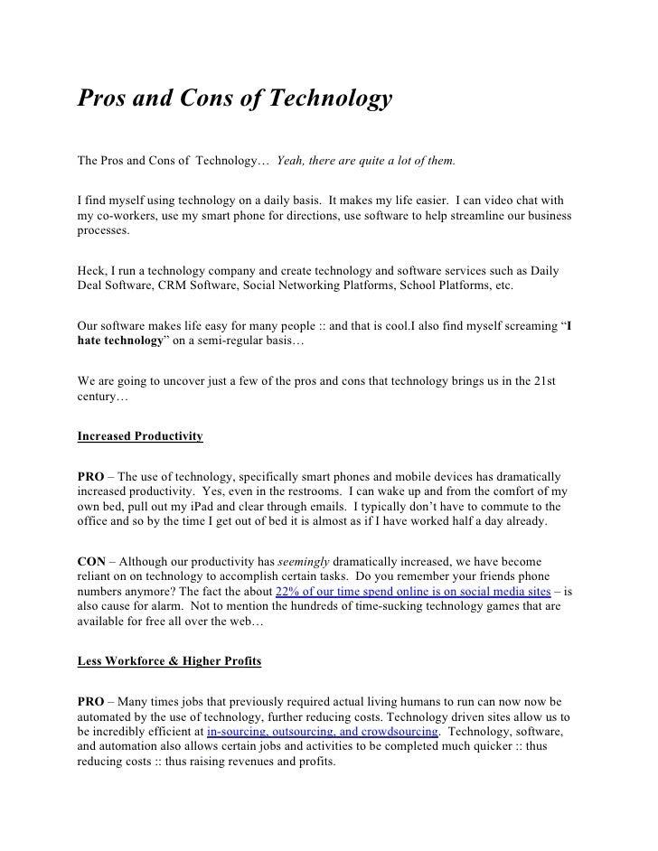 essay argument about technology